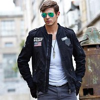 Military Style Men Tactical Stand Collar Coat Jacket