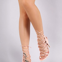 Poised High Heels Sandals - Light Pink