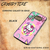 hello kitty 2 For Samsung Galaxy S6 Edge - Gift Present Multiple Choice