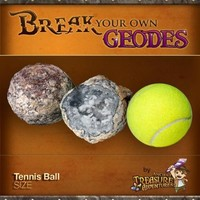 """Break Your Own Geode """"Tennis Ball Size"""" By Ancient Treasure Adventures"""
