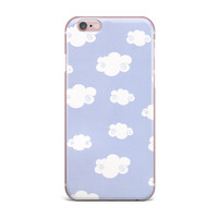"Heidi Jennings ""Happy Clouds"" White Blue iPhone Case"