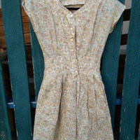 50s style Havana Nights Dainty Button Up Dress