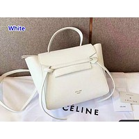 Celine sells casual lady shopping bag with pure color and fashionable shopping bag White
