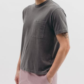 Natural Dyed SS Jersey Charcoal