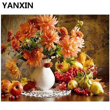 YANXIN DIY Frame Painting By Numbers Oil Paint Wall Art Pictures Decor For Home Decoration H521