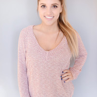 Ava Knit Top Dusty Rose