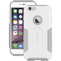 """Macally Iphone 6 Plus 5.5"""" Hardshell Case With Stand (white)"""