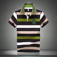 7 Styles Hot Sale New Arrival Men Polo Shirt Fashion Good Quality Classic Striped Homme Camisa