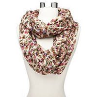 Flirty Floral Infinity Scarf: Charlotte Russe
