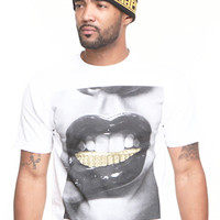 The Ice Grillz Tee-White All Gold Collection