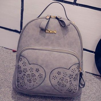 On Sale College Hot Deal Casual Comfort Back To School Korean Hollow Out Stylish Backpack [6582853383]