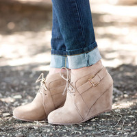 Buckle Up Booties-Taupe