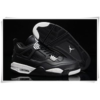 Air Jordan 4 Retro AJ4 OVO Black Sneaker Shoes US size 8-13