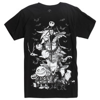 The Nightmare Before Christmas Characters Sketch T-Shirt