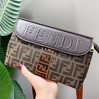 Fendi Fashion New More Letter Leather Crossbody Bag Shoulder Bag Women