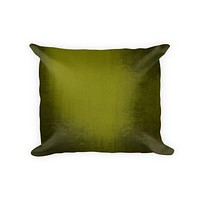 Olive Grunge Woven Cotton Throw Pillow