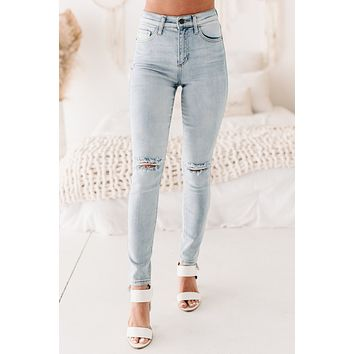Guilty As Charged High Rise Distressed Skinny Jeans (Light)