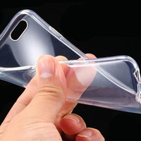 6s Plus TPU Clear Case Ultra Thin Flexible Soft Cover For Iphone 6 Plus 5.5inch Highly Transparent Back Phone Case Rubber Cover