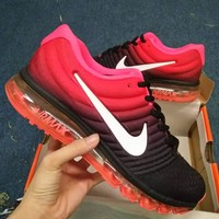 NIKE Trending Fashion Casual Sports Shoes AirMax section black red