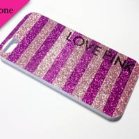 iPhone 5 Love Pink Case by VanityCases on Etsy