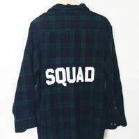 Squad Flannel - Blue/Green