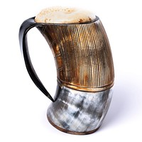 "flame treated horn tankard | ""the jarl"""