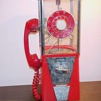 Vintage Novelty Gumball Machine Dial Telephone