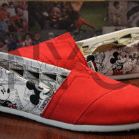 Custom Mickey & Minnie Mouse Comic - Red Toms