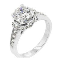 Noula Classic Solitaire Engagement Ring | 3.7ct | Cubic Zirconia | Silver