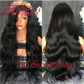 Brazilian Virgin Hair Full Lace Human Hair Wigs Lace Front Wigs Glueless Full Lace Wig