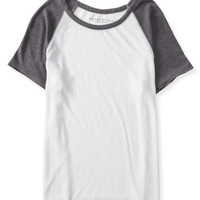 Sheer Raglan Baseball Tee