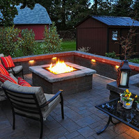 """Do-It-Yourself Ready-to-Finish 36"""" Square Fire Pit Kit"""