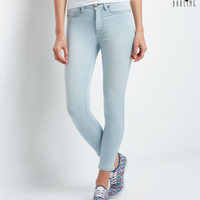 Aeropostale  Tokyo Darling Seriously Stretchy High-Waisted Light Wash Ankle Jegging