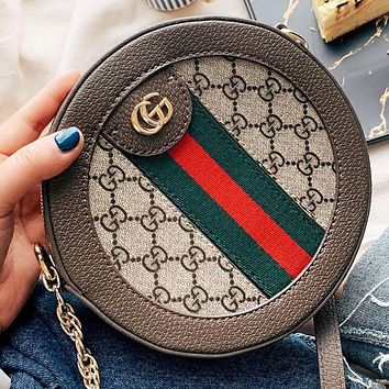 Hipgirls GUCCI Fashion new more letter leather shopping leisure shoulder bag crossbody bag