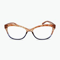 Dual Colored Tortoise Shell Cat Eye Women's Reading Glasses | Fully Magnified Lenses R-723