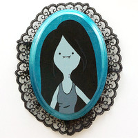 Hand Painted Wooden Marceline Plaque