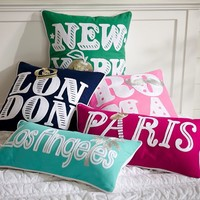 Jet Setter Destination Pillow Covers