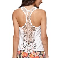 Kirra Applique Back Tank - Womens Shirts -