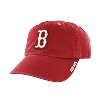 Boston Red Sox - B Logo Clean Up Adjustable Red Baseball Cap