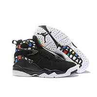 Air Jordan 8 Retro Black/Colorful Size 40-47