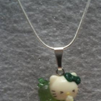Hello Kitty necklace green worm