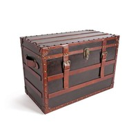 Go Home Leopold Leather Trunk