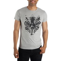 Triangle Tiger Face Shirt for men