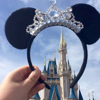 Gorgeous Tiara Minnie Mouse ears Headband