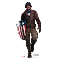 (33x74) WWII Captain America Lifesize Standup Poster
