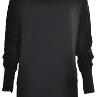 Womens Jersey Batwing Top Sweaters