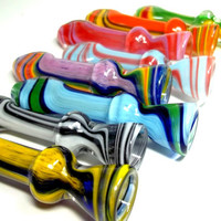 Glass Pipe, CHOOSE YOUR own COLOR Chillum, HItter, Flat Mouthpiece,  Made to Order, Cgge Team