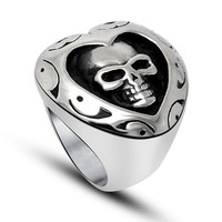 Love in the heart of the skull ring special love to do the same as you
