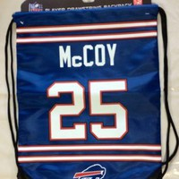 LeSean Shady McCoy #25 Drawstring Back Pack Back Sack BackPack NEW Buffalo Bills