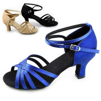 New Hot Women Latin Shoes Ballroom Dance Shoes Satins Suede Bottom 3 Colors  B_W = 5710702529